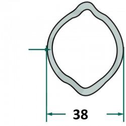 0829-810-038 Rura profilowa wewnętrzna, typ cytryna, średnica 38