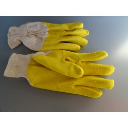 100320 Rękawice ochronne powlekane latex