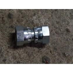 110130312L, 080030015 Złącze proste z nakrętkami, M18 x 1.5 12L