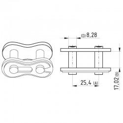 "K251711, K2517-11 Zamek łańcucha 1"", x 17.02 mm"
