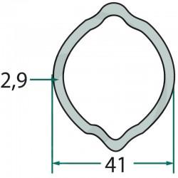 397720413, 679397720413 Rura profilowa, 41 x 2.9 mm