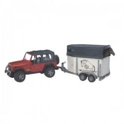U02921, U 02921 Samochód terenowy Jeep z przyczepką i konikiem