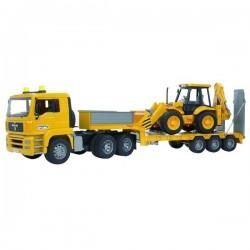 U02776, U 02776 Ciężarówka MAN TGA z naczepą i ładowarką JCB