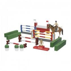 U62530, 62530 Parkur, podium, koń z jeźdźcem