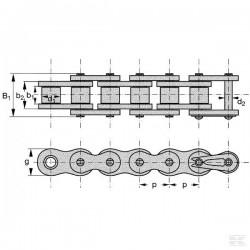 łańcuch rolkowy 12b-74