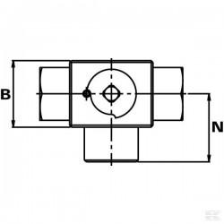 C000-BK3-3/8 ZAWÓR KULOWY 3/2 3/8cala
