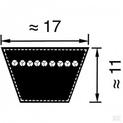 VB173250 Pas klinowy B/17, 3250 mm
