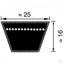 PK25X3950, PK253950 Pas klinowy klasyczny DIN 2215 profil 25, 3950 mm