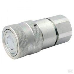 """D890SKFF12C08 Szybkozłącze płaskie SKFF - gniazdo, ISO 16028, gwint wew. G1/2"""", ISO12,5"""