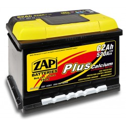 562 58, 56258 Akumulator ZAP Plus 12V 62Ah 520A