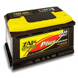 574 12, 57412 Akumulator ZAP Plus 12V 74Ah 680A