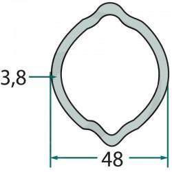 397720484, 679397720484 Rura profilowa zewnętrzna typ cytryna