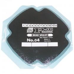 5126044, PN04  Wkład naprawczy do opon diagonalnych Tip Top, PN 04, średnica 120