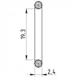 112519324, 19324 Pierścień oring, 19.3 x 2.4,