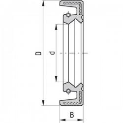 7901AO527212, AO527212 Pierścień simmering, 52 x 72 x 12