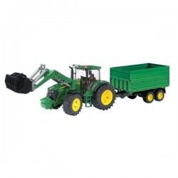 U03055, U 03055 Traktor John Deere z ładowaczem i przyczepą