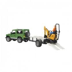 U02593, U 02593 Samochód Land Rover z lawetą i minikoparką JCB 8010 CTS