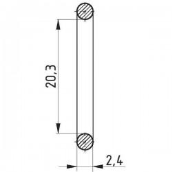112520324, 20324 ORING 20.3x2.4, 20.3 x 2.4