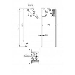 Y5/Y30/80/200ZW5, PALEC SPRĘŻYSTY PRASY WELGERA
