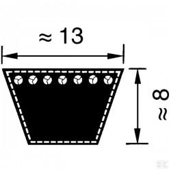 VB131007 Pasek klinowy, Li 1007 mm